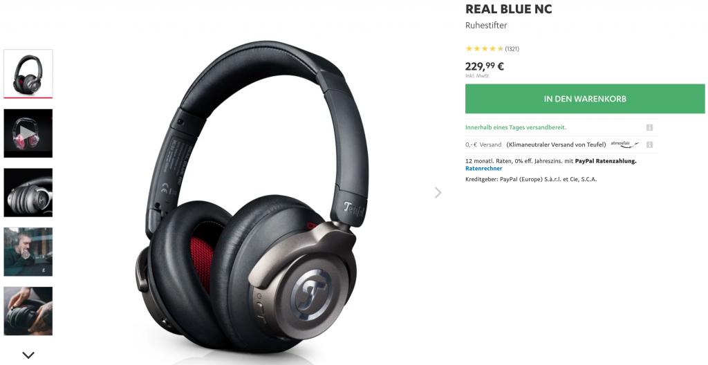 Teufel Real Blue NC Kopfhörer Preis