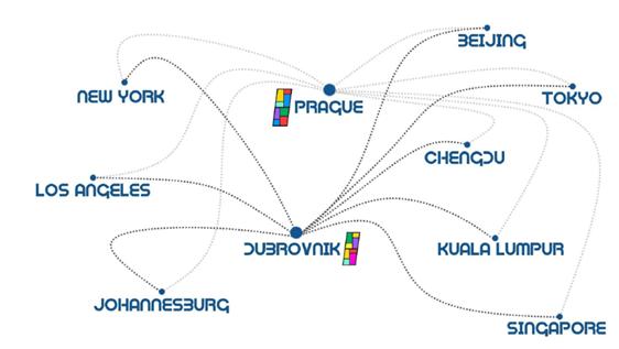 PRAGUSA.ONE Streckennetz