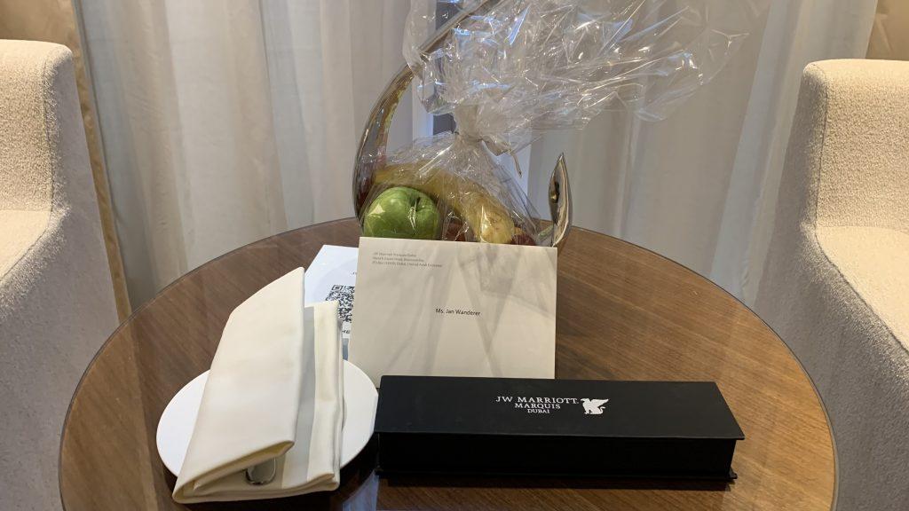 Jw Marriott Dubai Marquis Zimmer Geschenk