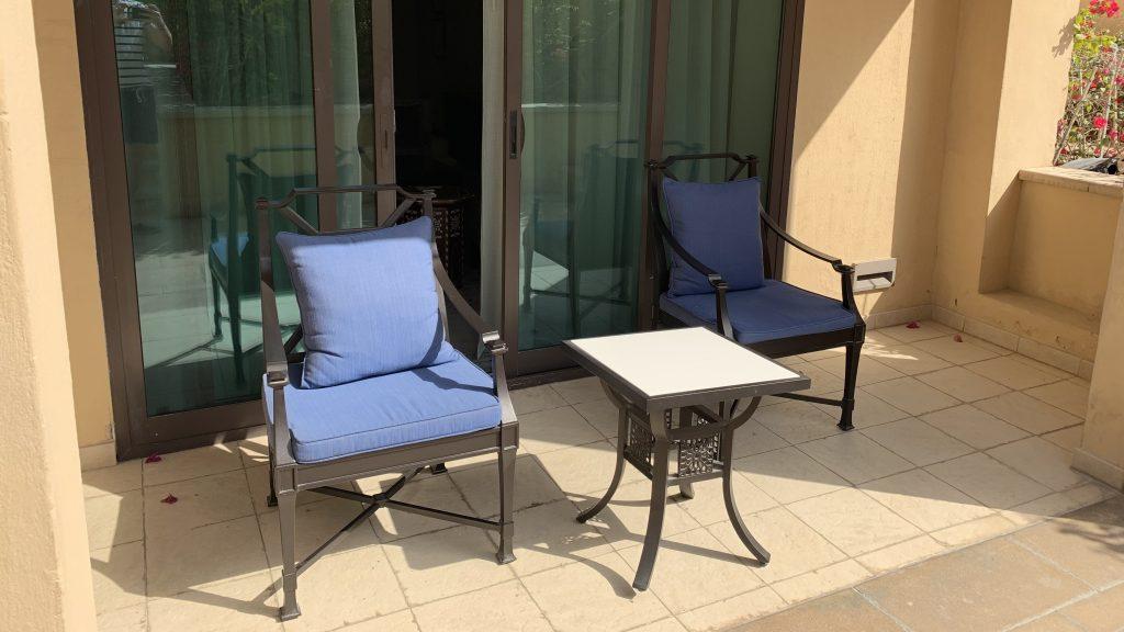 Terrasse hôtel de luxe à Dubaï