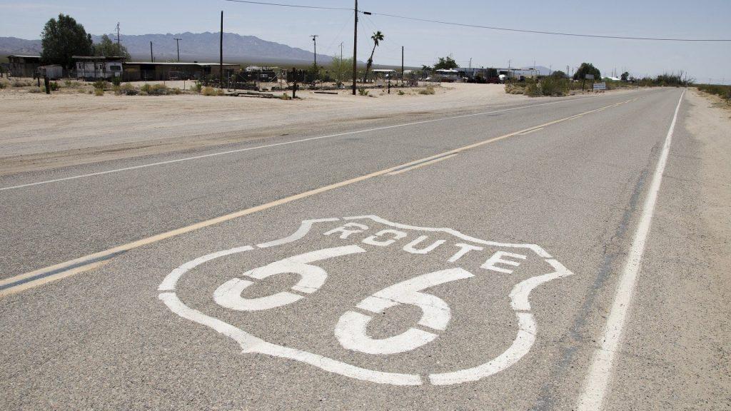 Mietauto Ausland Beispielfoto Route 66 in den USA