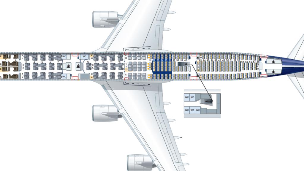 Airbus A340-600 Sitzplan