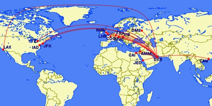 Emirates A380 Map