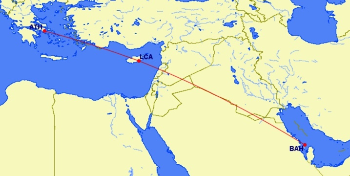 Gulf Air Fifth Freedom Flug