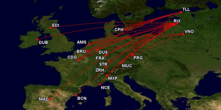 airBaltic - Delta Air Lines Codeshare