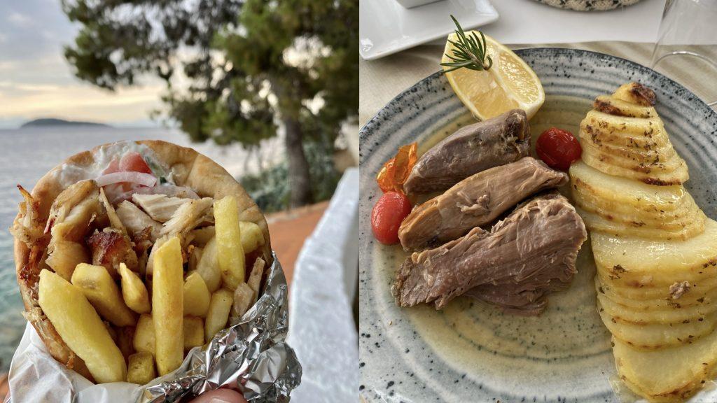 Essen Skiathos Griechenland