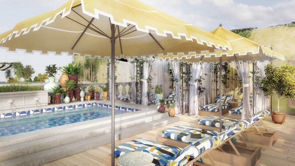 W Rom, Marriott Hotel, Pool