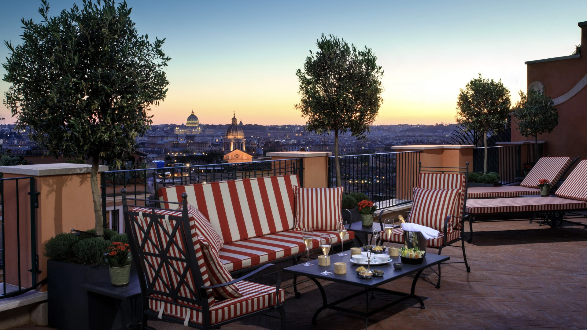 Rocco Forte Hotel de la Ville Rome Terrasse
