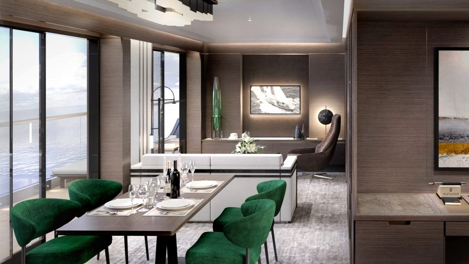 Ritz-Carlton Yacht Collection Grand Suite Dayroom