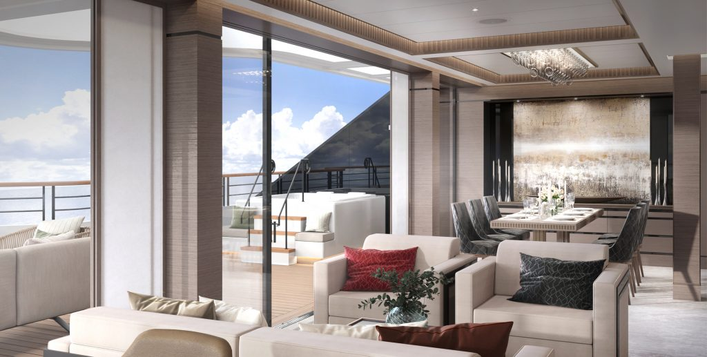 Ritz-Carlton Yacht Collection Evrima Owners Suite Dayroom