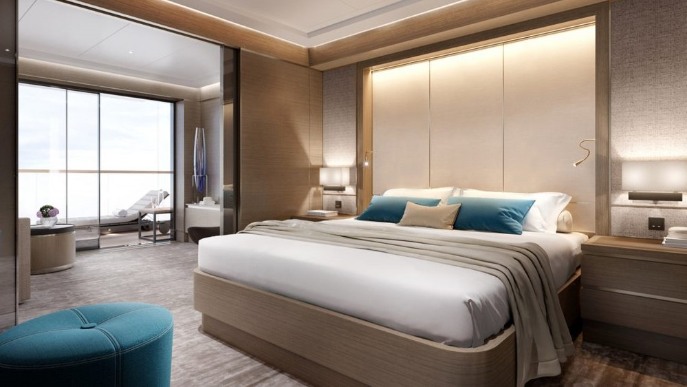 Ritz-Carlton Yacht Collection Signature Suite Bedroom