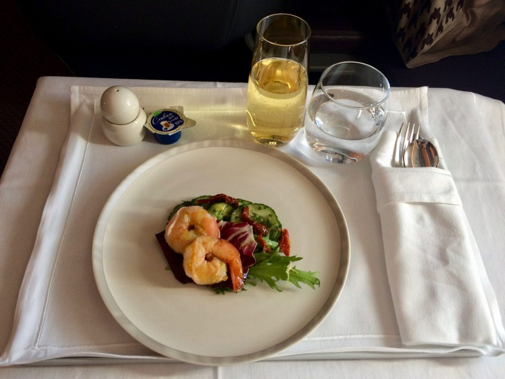 Singapore Airlines Business Class Airbus A350 Essen Service