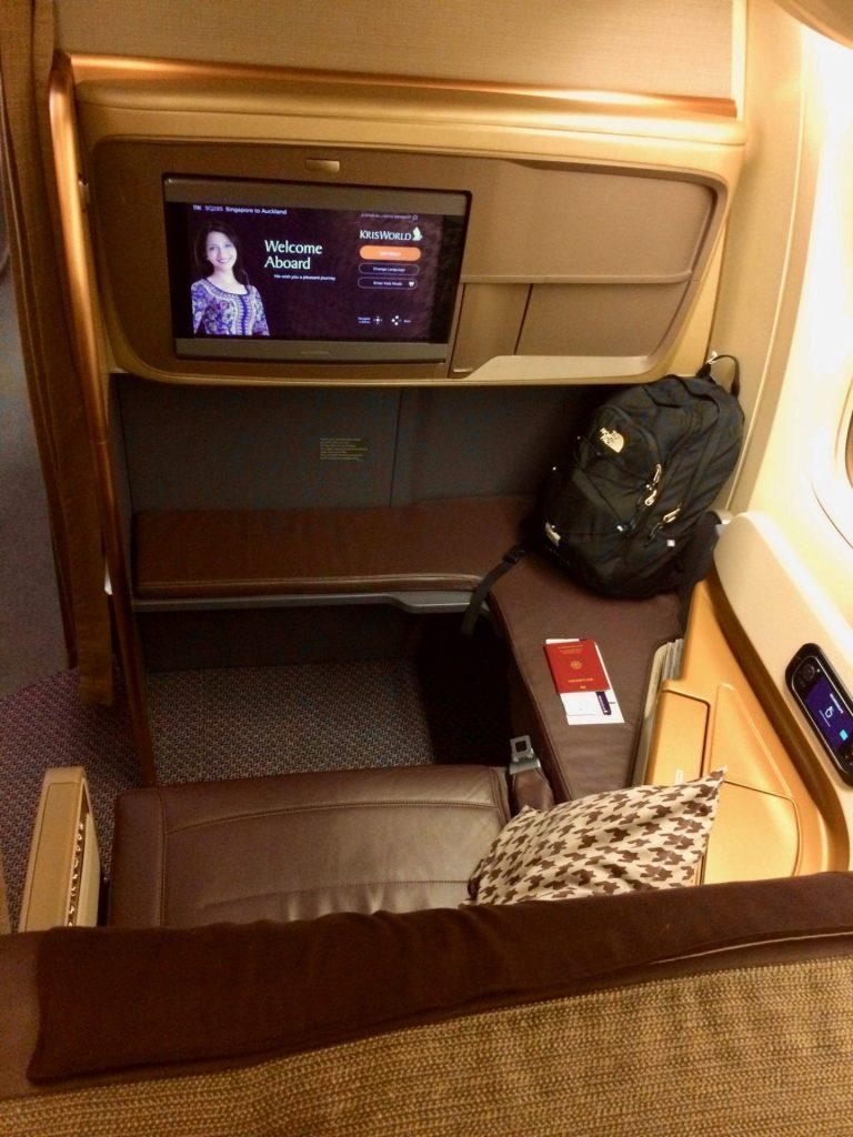 Singapore Airlines Business Class Airbus A350 Sitz Von Hinten