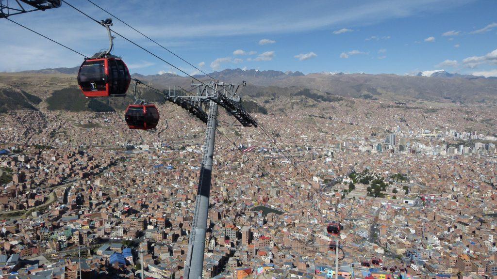 Boliven La Paz Ausblick von El Alto