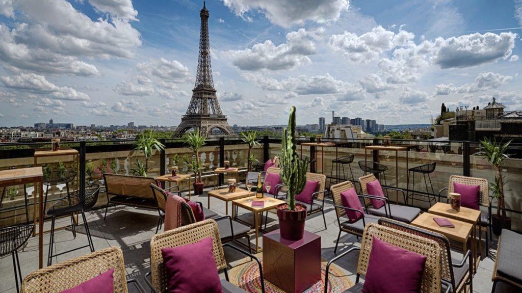 Shangri-La Paris, Terrasse, Eifelturm, reisetopia Hotels