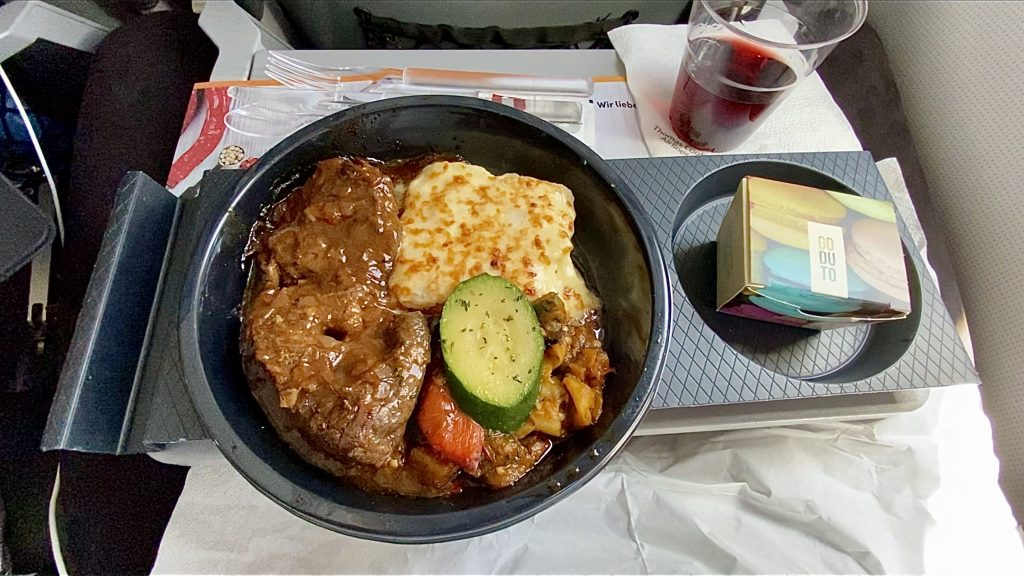 Condor Airbus A320 Business Class Catering