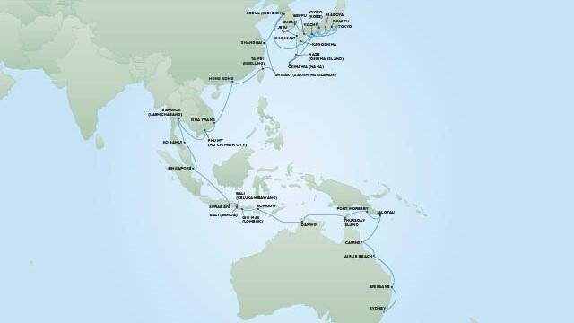 Regent Seven Seas Explorer Routen