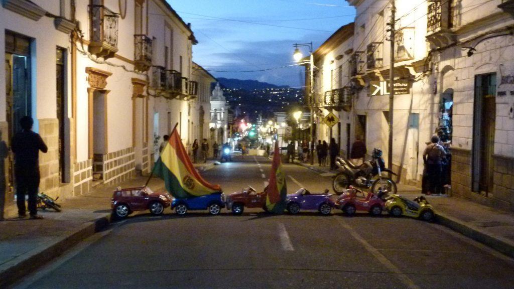 Sucre Straßensperren und Proteste