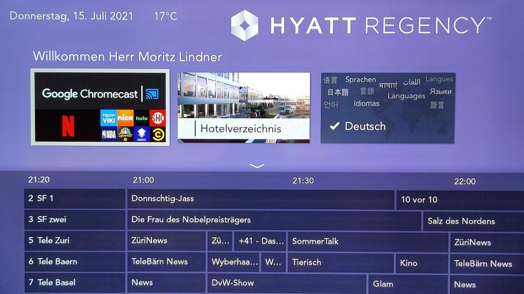 Hyatt Regency Zurich Airport The Circle Deluxe Park View Zimmer Smart TV