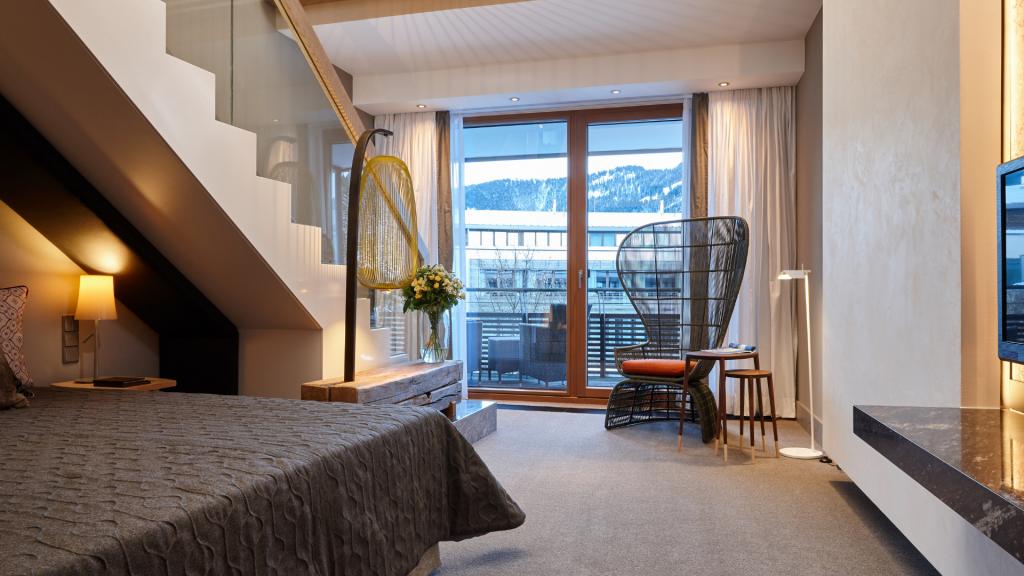 Kempinski Hotel Berchtesgaden Maisonette Suite Ausblick