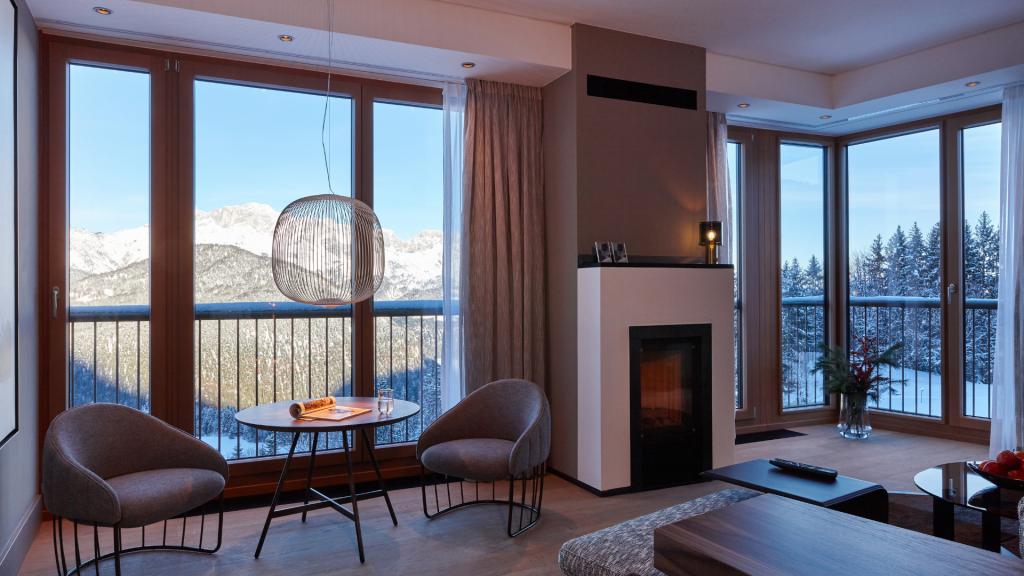 Kempinski Hotel Berchtesgaden Panorama Suite Ausblick