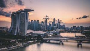 Singapur Skyline, Marina Bay Sands, Singapore