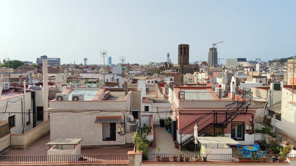 Kimpton Vividora Barcelona Rooftop Bar Ausblick