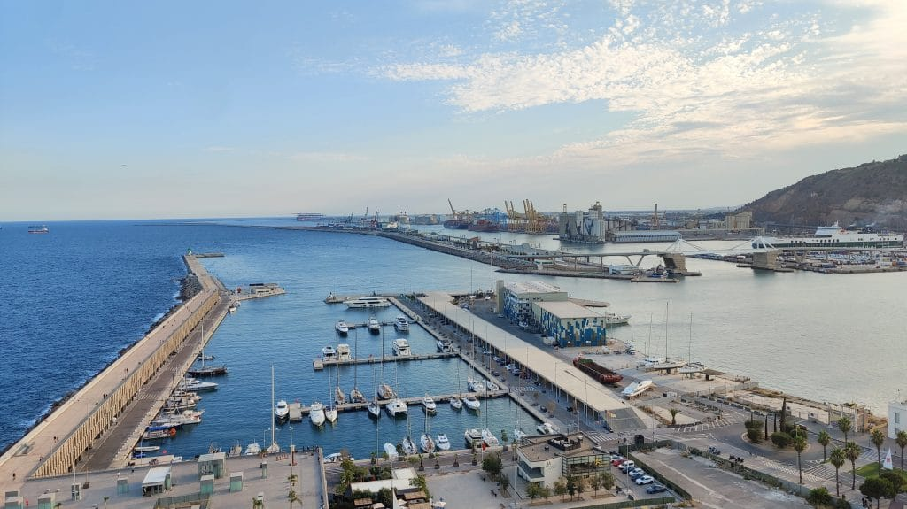 W Barcelona Ausblick Hafen