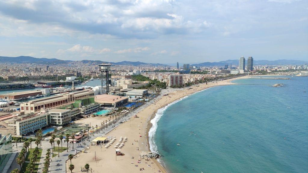 W Barcelona Ausblick Strand