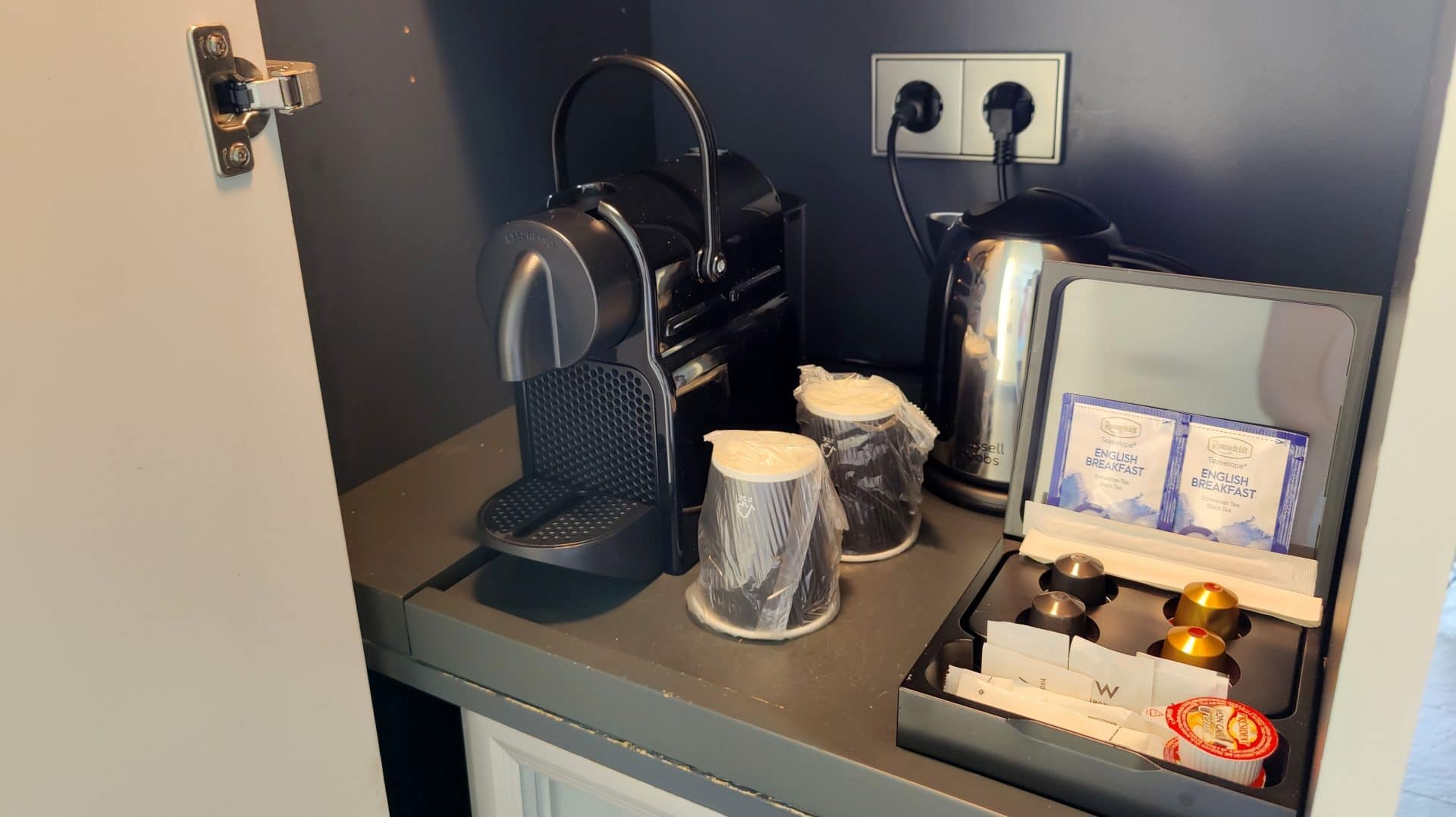 W Barcelona Fabulous Sky Zimmer Kaffeemaschine