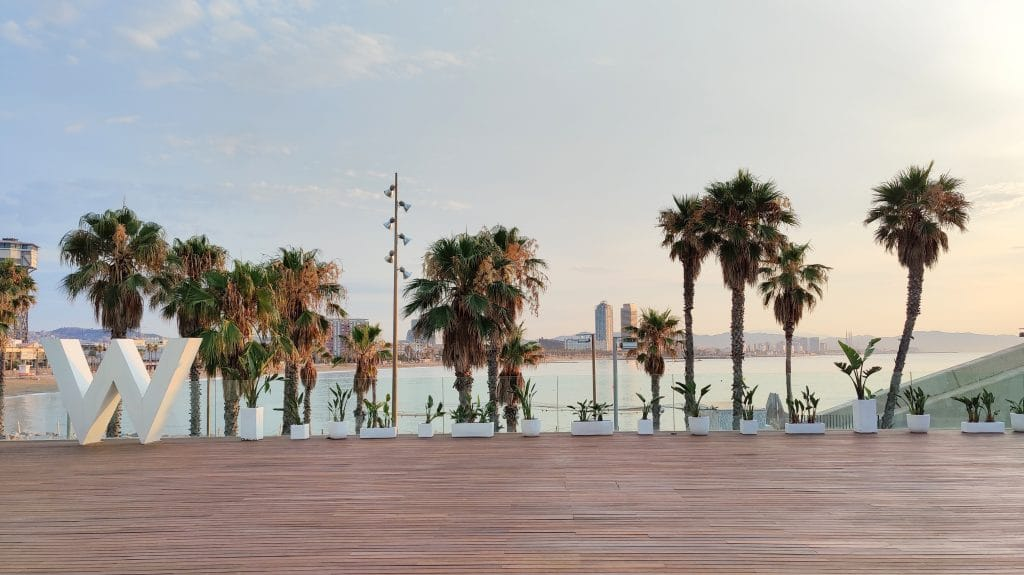 W Barcelona Fitness Terrasse
