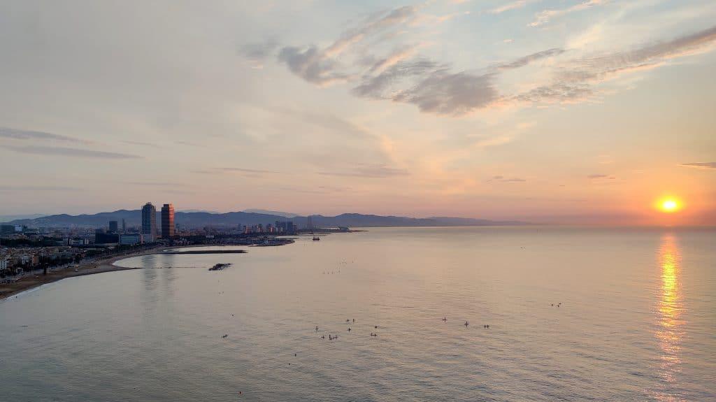 W Barcelona Sonnenaufgang