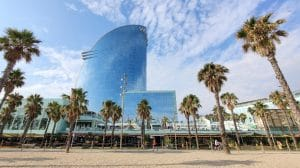 W Barcelona Strand Gebauede