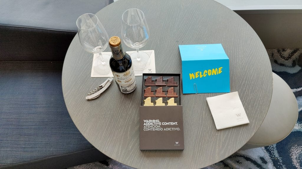 W Barcelona Willkommensgeschenk