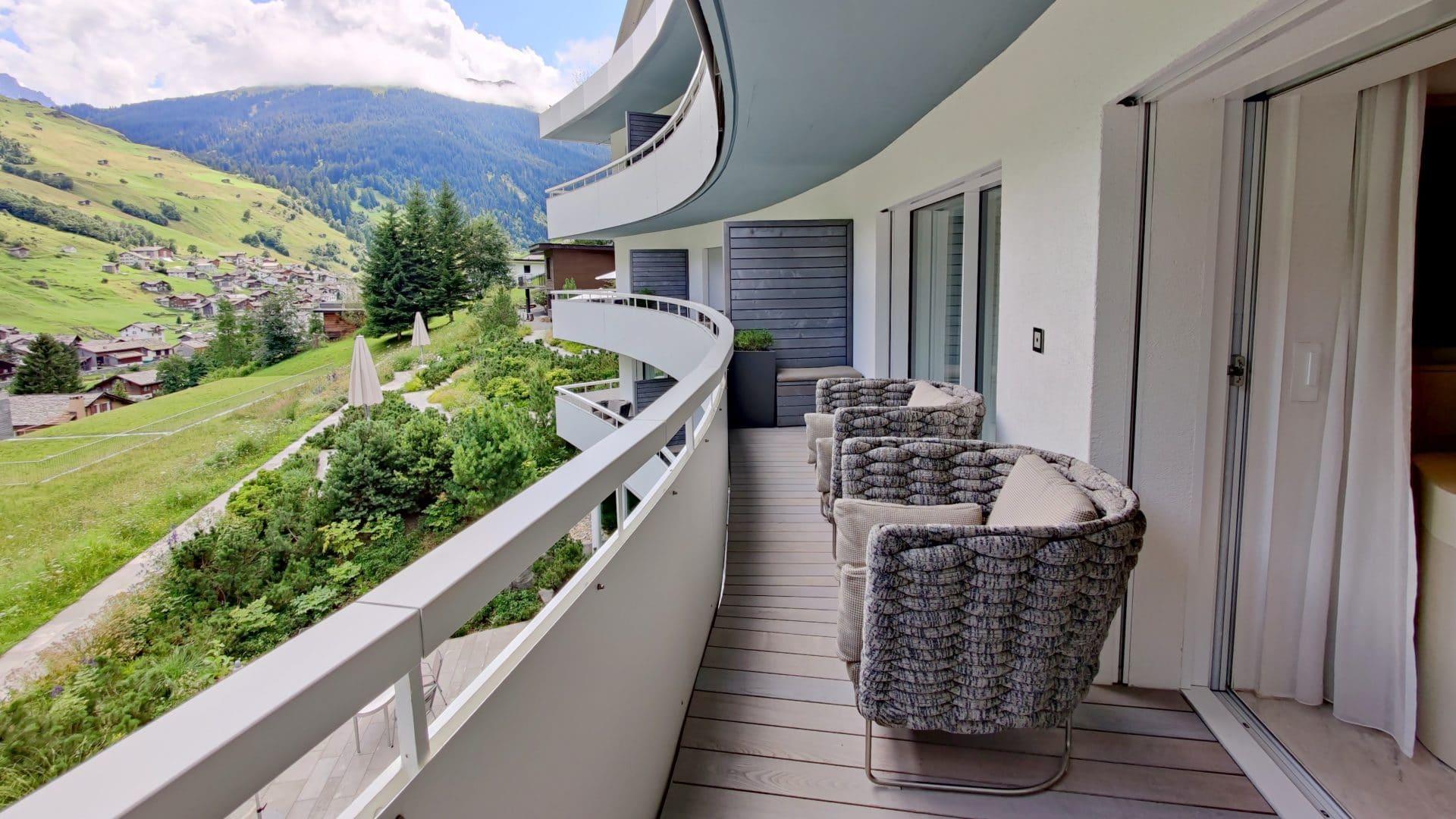 7132 Hotel Vals Spa Deluxe Zimmer Balkon
