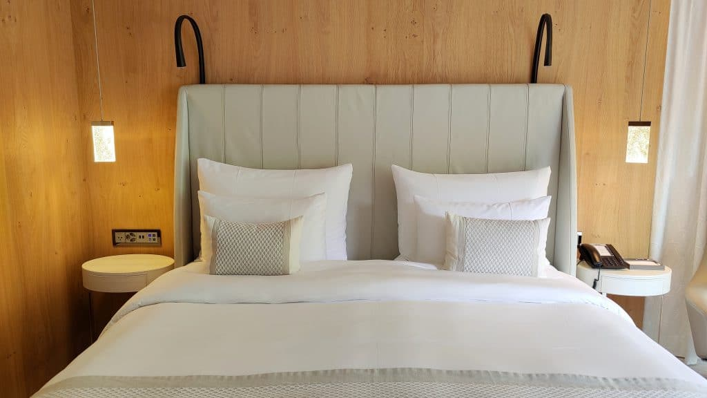 7132 Hotel Vals Spa Deluxe Zimmer Bett