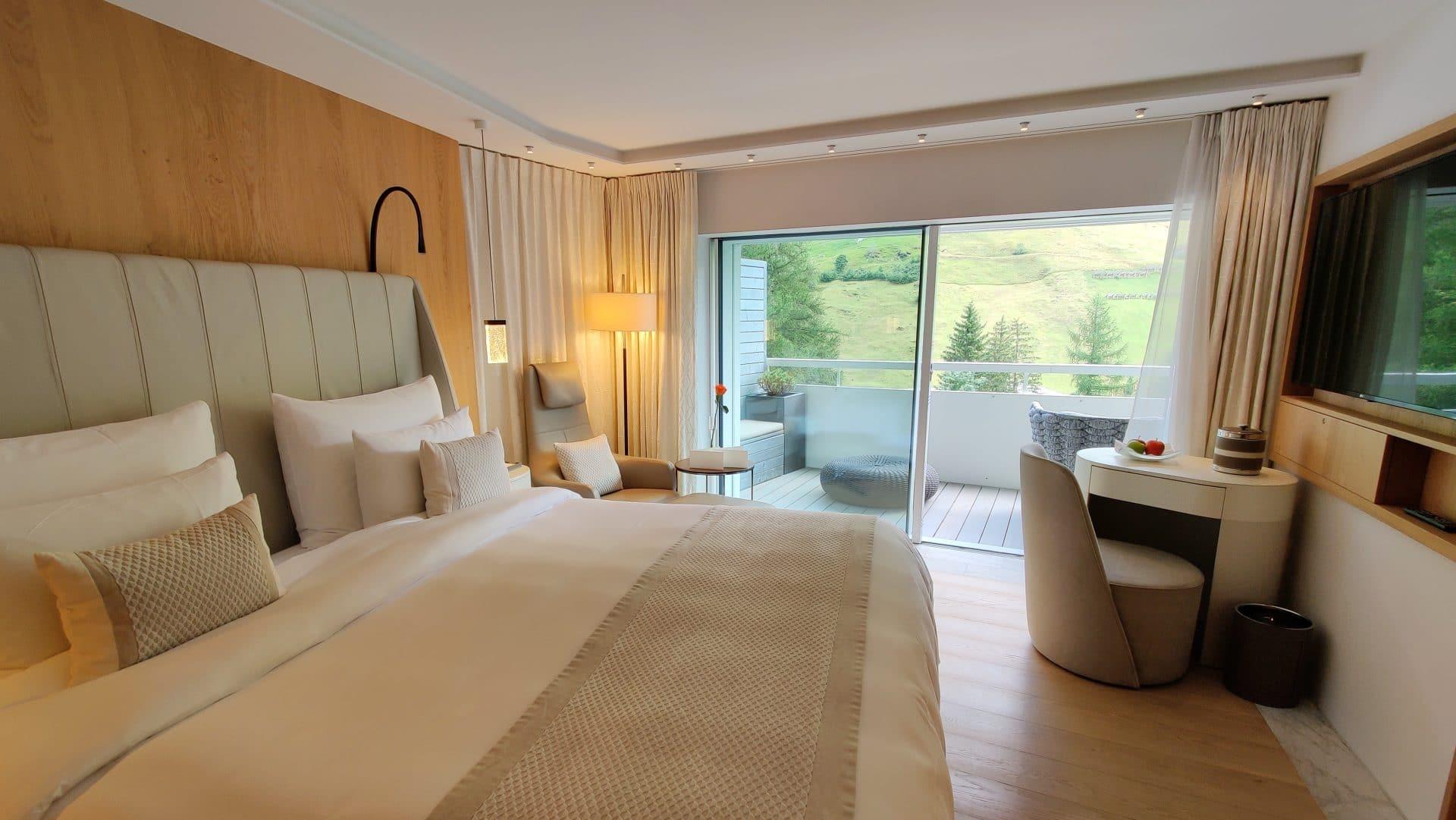 7132 Hotel Vals Spa Deluxe Zimmer Schlafzimmer 2