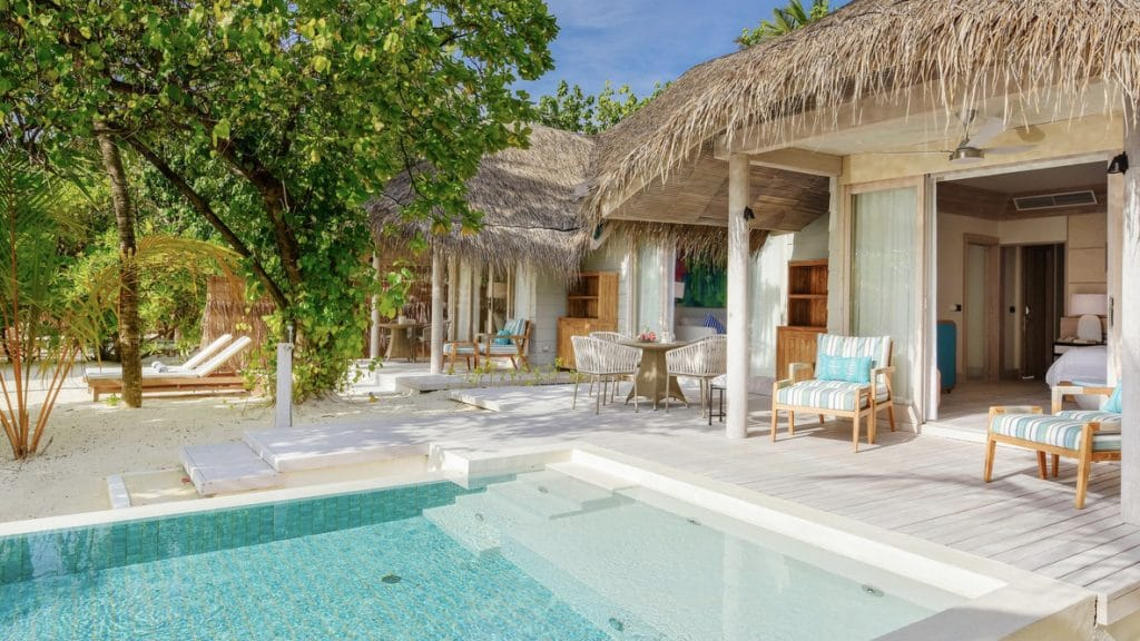 Six Senses Kanuhura Family Villa Pool Beach Villa