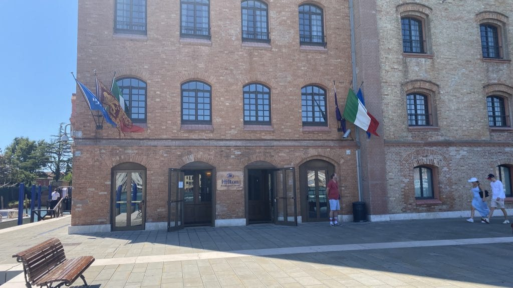 Hilton Molino Stucky Venedig Eingang