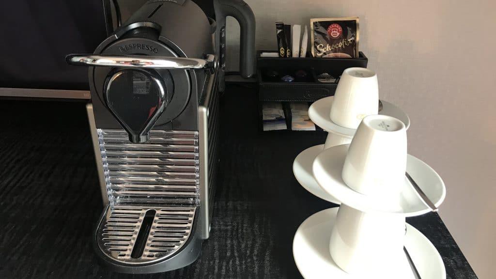 Sofitel München Bayerpost Duplex Suite Kaffeemaschine