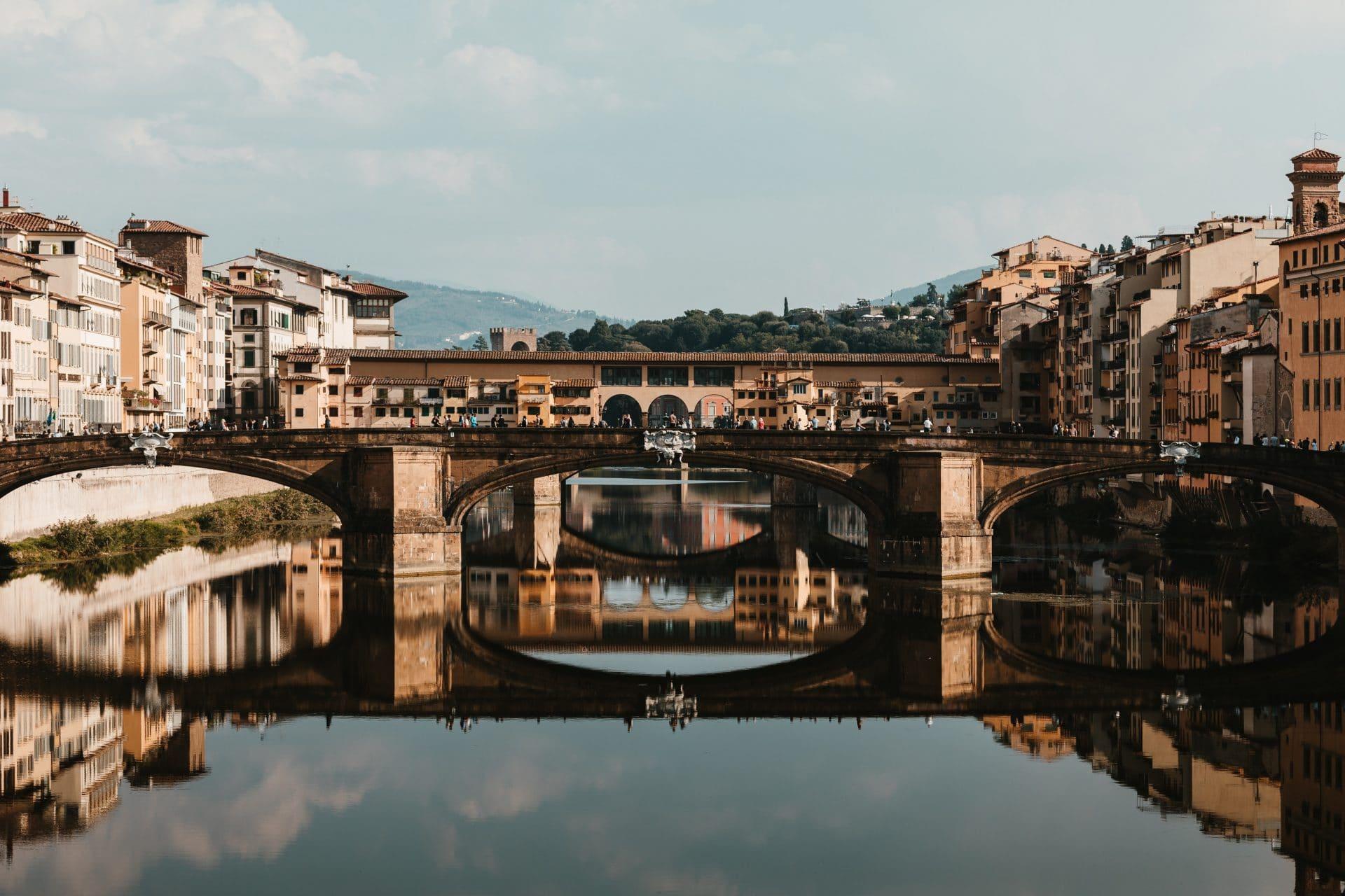 Florenz, Brücke, Toskana, Italien